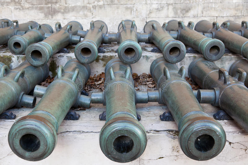 Download Trunks of old cannons stock image. Image of warrior, trunks - 34968413