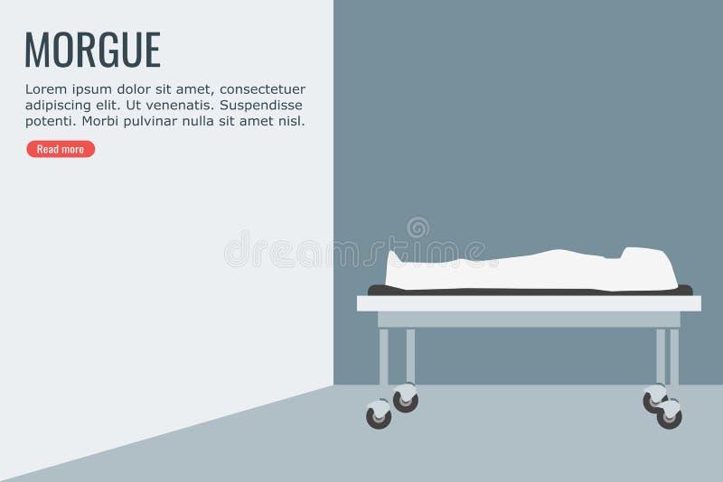 Trup w kostnicie ilustracji