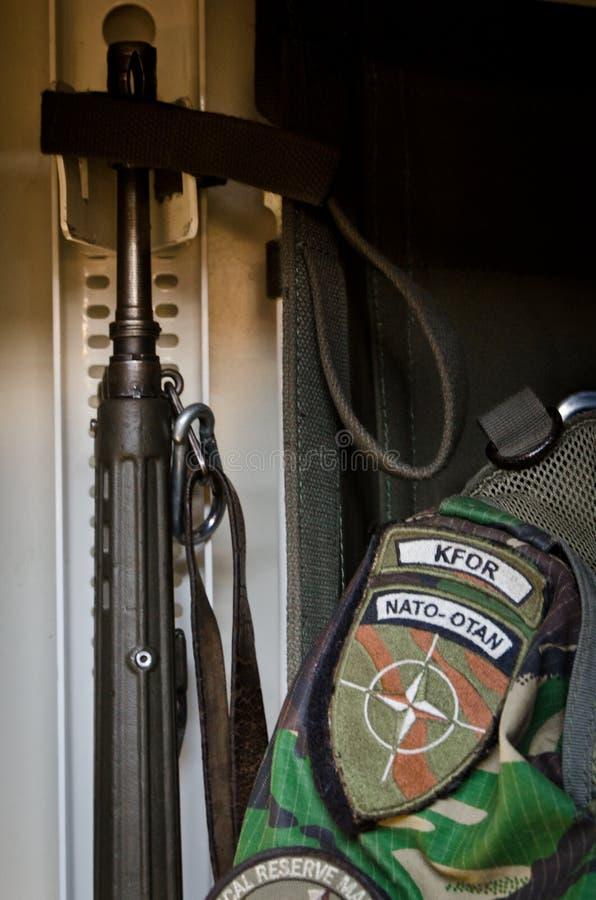 Truppe di NATO pronte per spiegamento internazionale fotografia stock