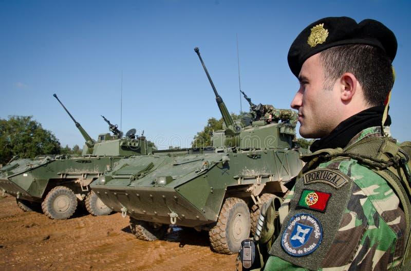 Truppe di NATO pronte per spiegamento internazionale immagini stock libere da diritti