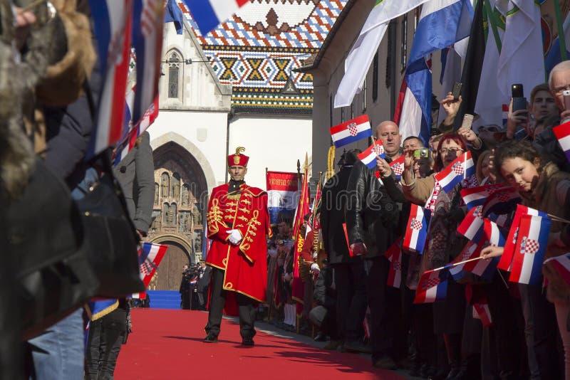 Truppe storiche croate fotografia stock