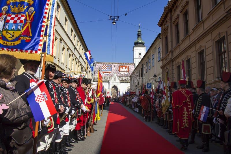 Truppe storiche croate immagine stock libera da diritti