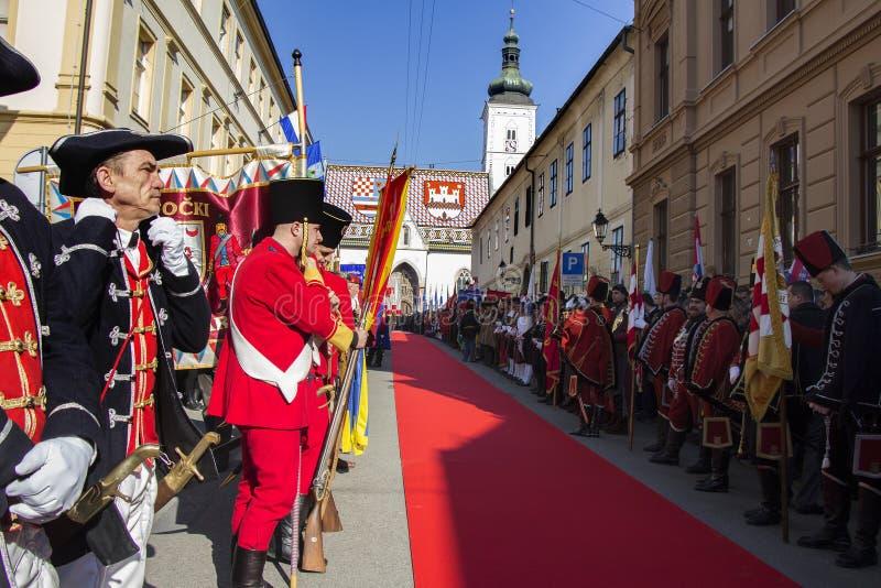 Truppe storiche croate fotografia stock libera da diritti