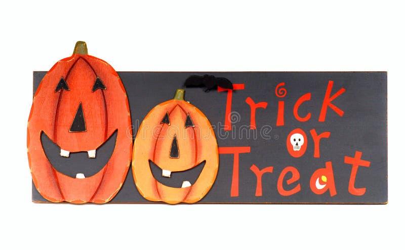 Truque de Halloween ou imagem do deleite fotos de stock royalty free