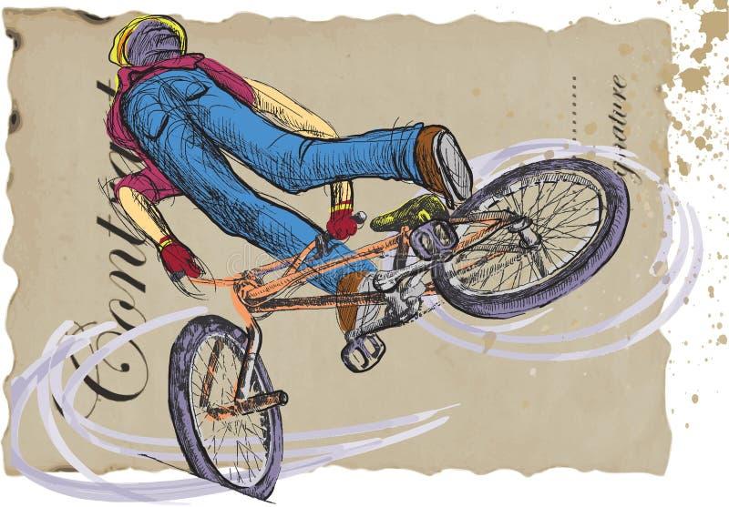 Truque do estilo livre - bicicleta ilustração stock