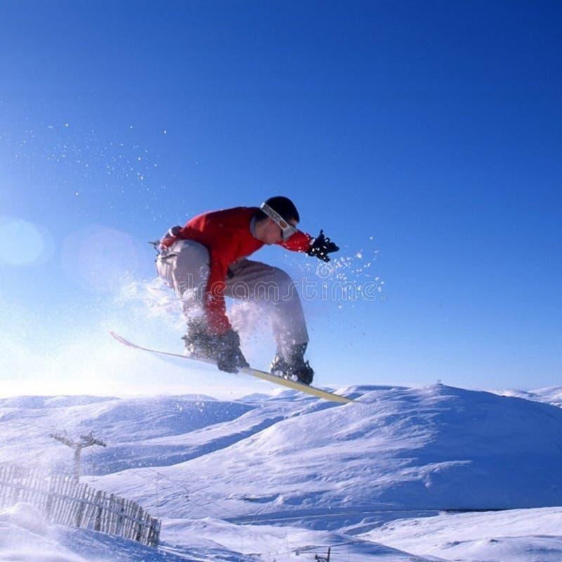 Truque do Snowboard imagem de stock