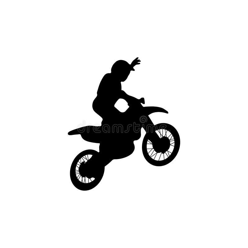 Truque dos motorcross do estilo livre ilustração royalty free