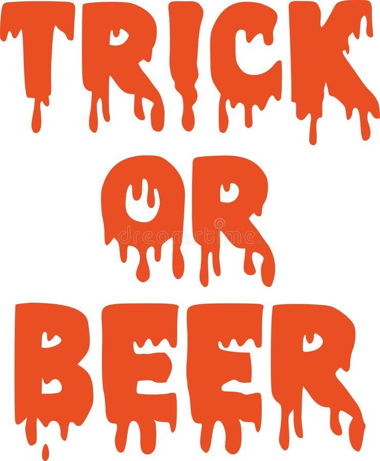 Truque ou cerveja ilustração do vetor