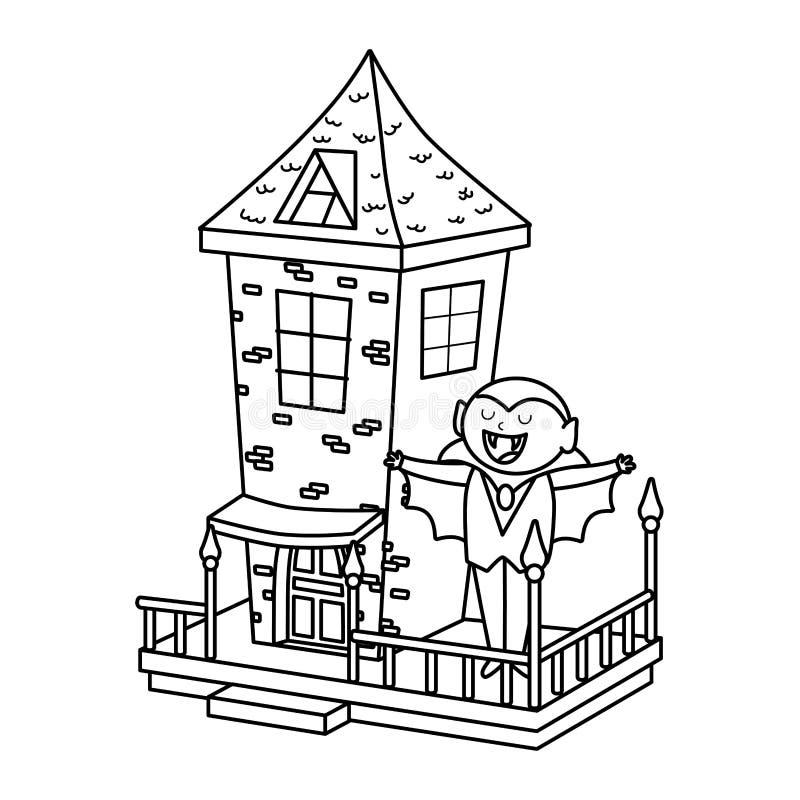 Truque ou tratamento - estilo de linha de halloween feliz ilustração do vetor