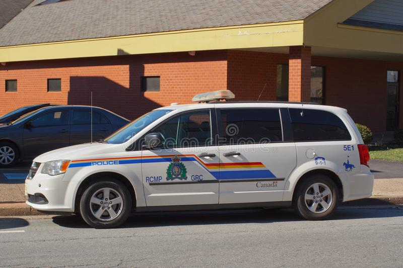 RCMP Vehicle. TRURO, CANADA - MAY 30, 2018: Royal Canadian Mounted Police vehicle. The RCMP is Canada`s federal and national police agency royalty free stock images