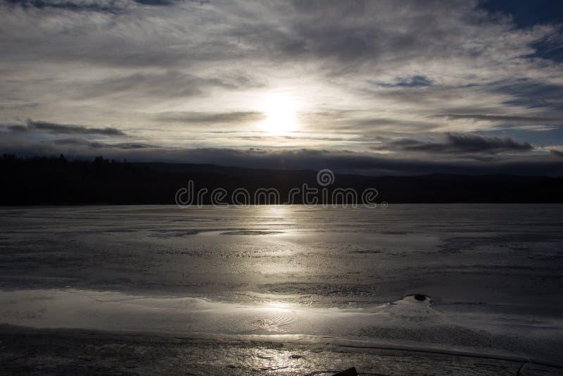 Truskavets de la puesta del sol fotografía de archivo