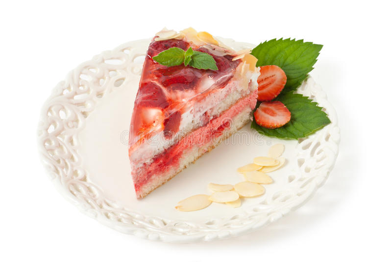 Truskawka tort zdjęcie stock