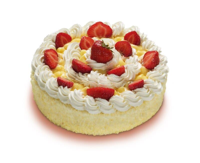 Truskawka tort obrazy stock