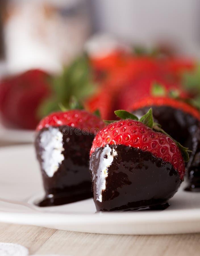 Truskawki w czekoladzie zdjęcie stock