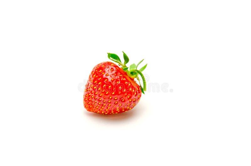 Truskawkowa jagoda na białym tle zdjęcia stock
