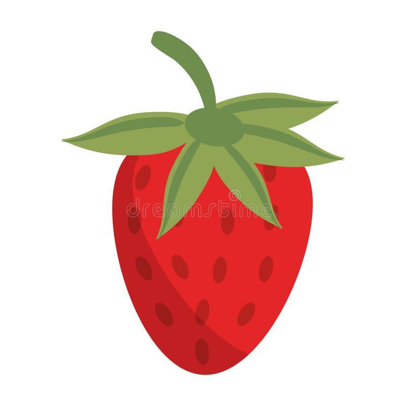 Truskawkowa owocowa świeża żywność ilustracja wektor