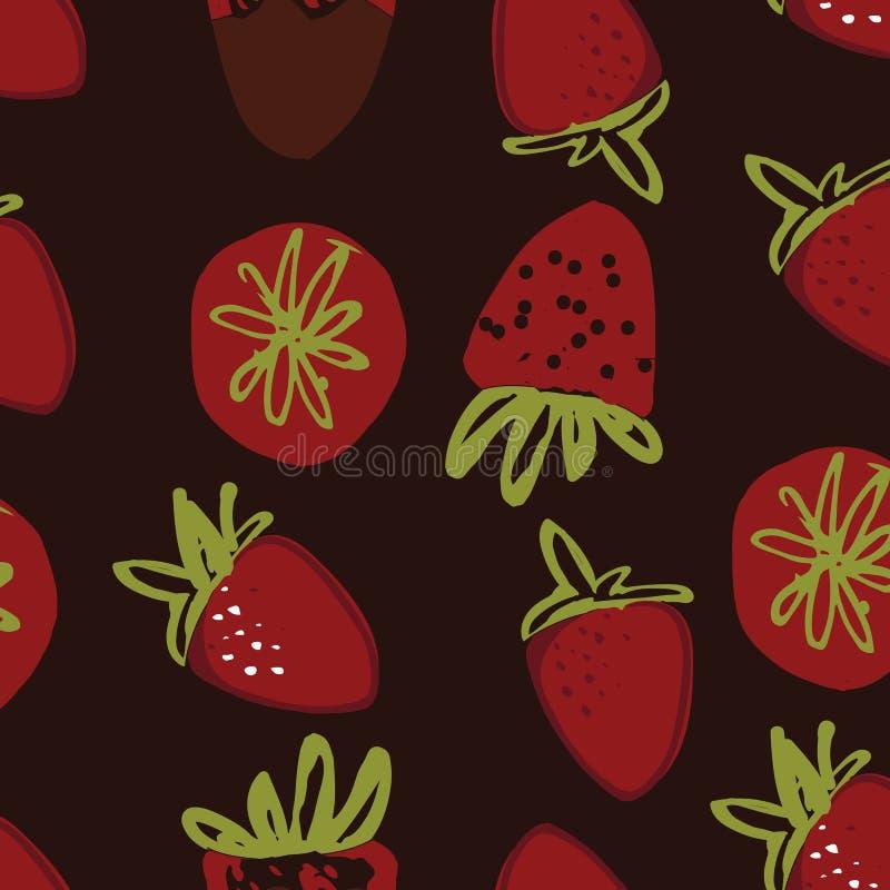 Truskawkowa ręka rysująca kolor ilustracja dla twój projekta: torby, koszulki, tapeta ilustracji