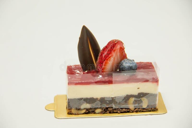 Truskawkowy Cheesecake obraz stock