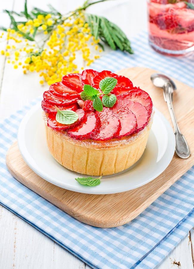 Truskawkowy cheesecake obrazy stock