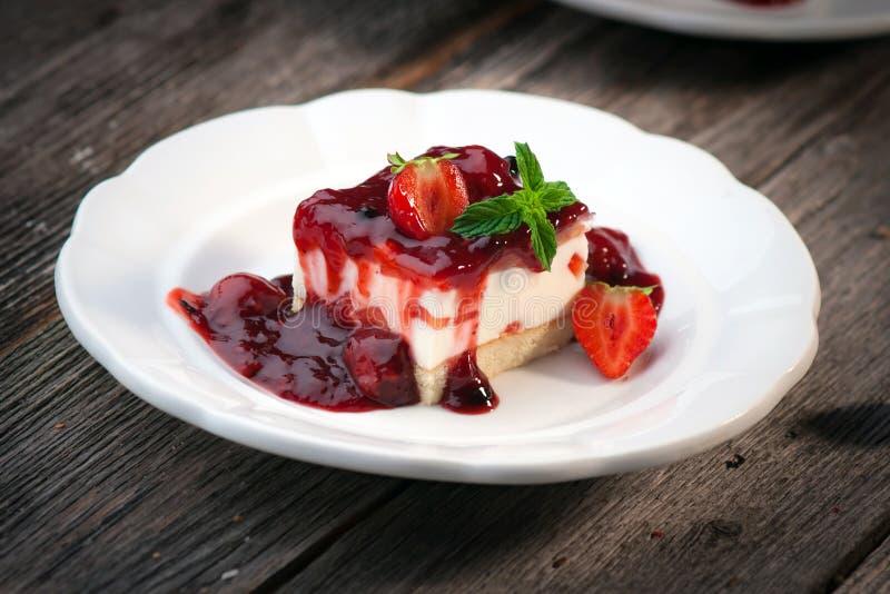 Truskawkowy cheesecake zdjęcie stock