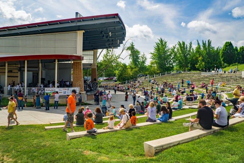 Truskawkowy festiwalu Elmwood park, Roanoke, Virginia, usa zdjęcia stock