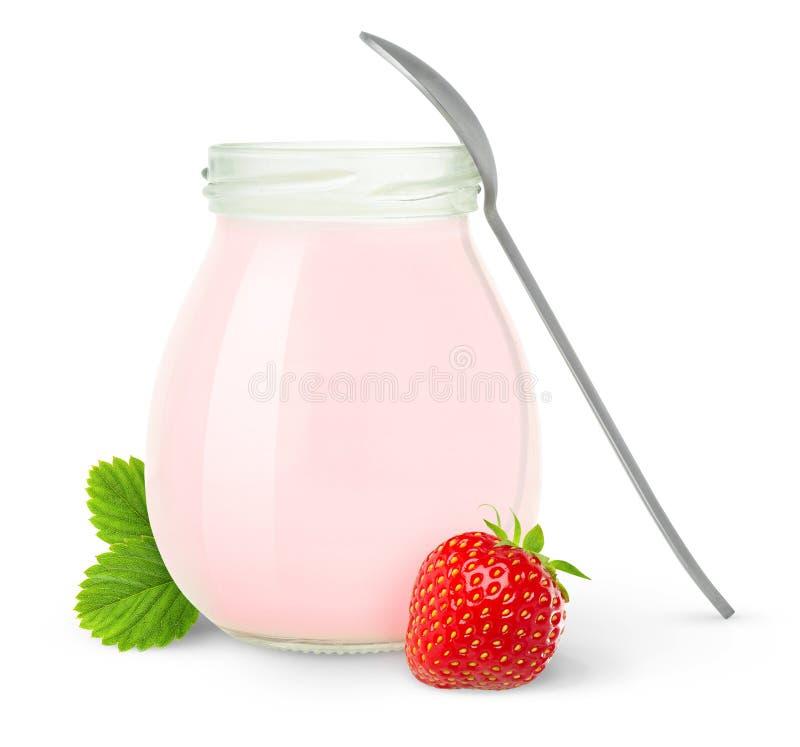 truskawkowy jogurt zdjęcia royalty free
