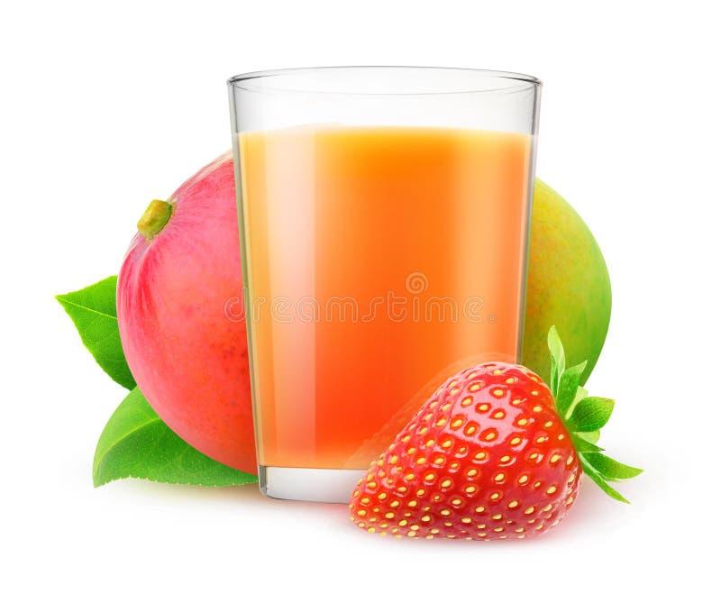 truskawkowy mangowy smoothie zdjęcie royalty free