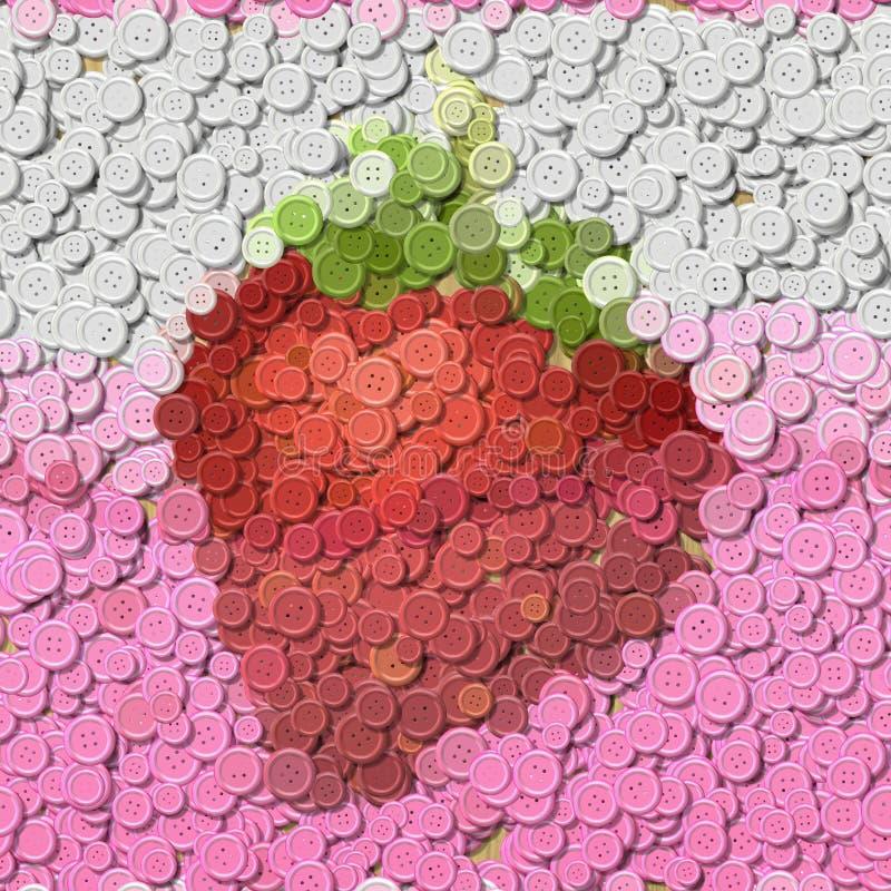 Truskawkowy sok szy guzika wizerunek wytwarzającego tło ilustracja wektor