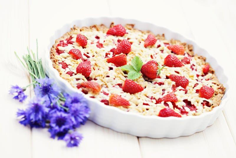 truskawkowy tarta zdjęcie stock