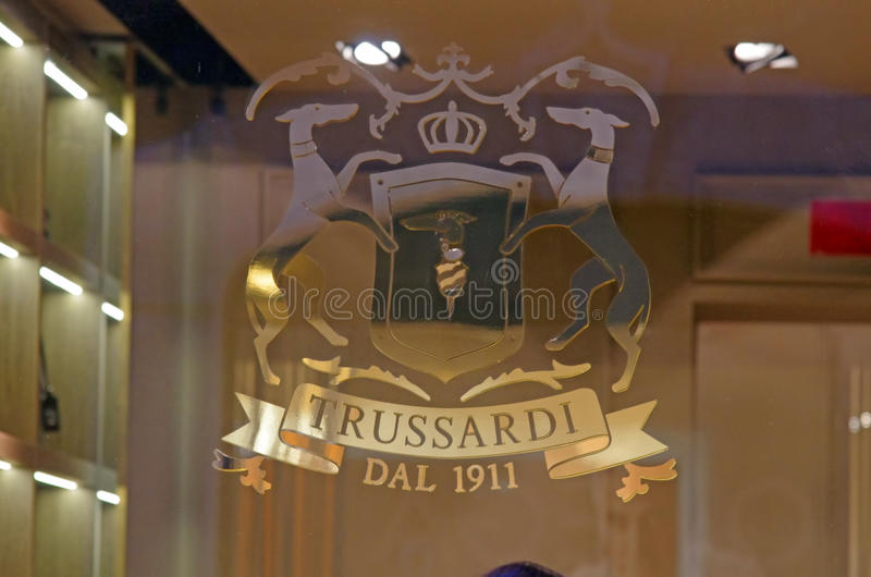 Trussardi store royalty free stock images