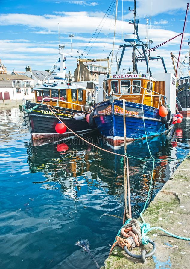 Free Trust At Burghead Harbour Stock Photo - 106771680