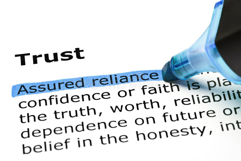 Trust with blue marker royalty free stock images