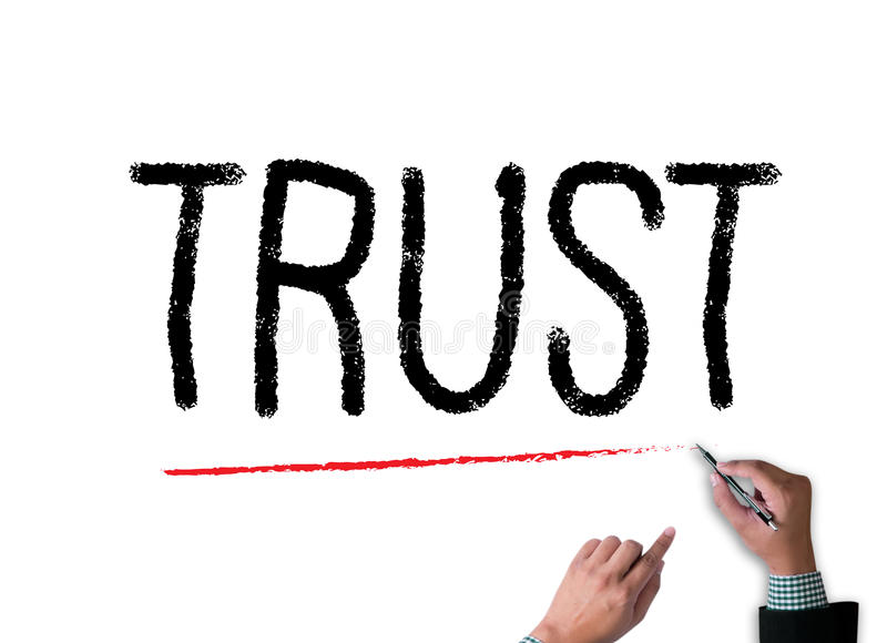 TRUST Business Concept and TRUST FUND stock photos
