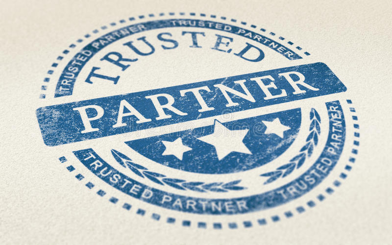 Trust in Business Partnership Background vector illustration
