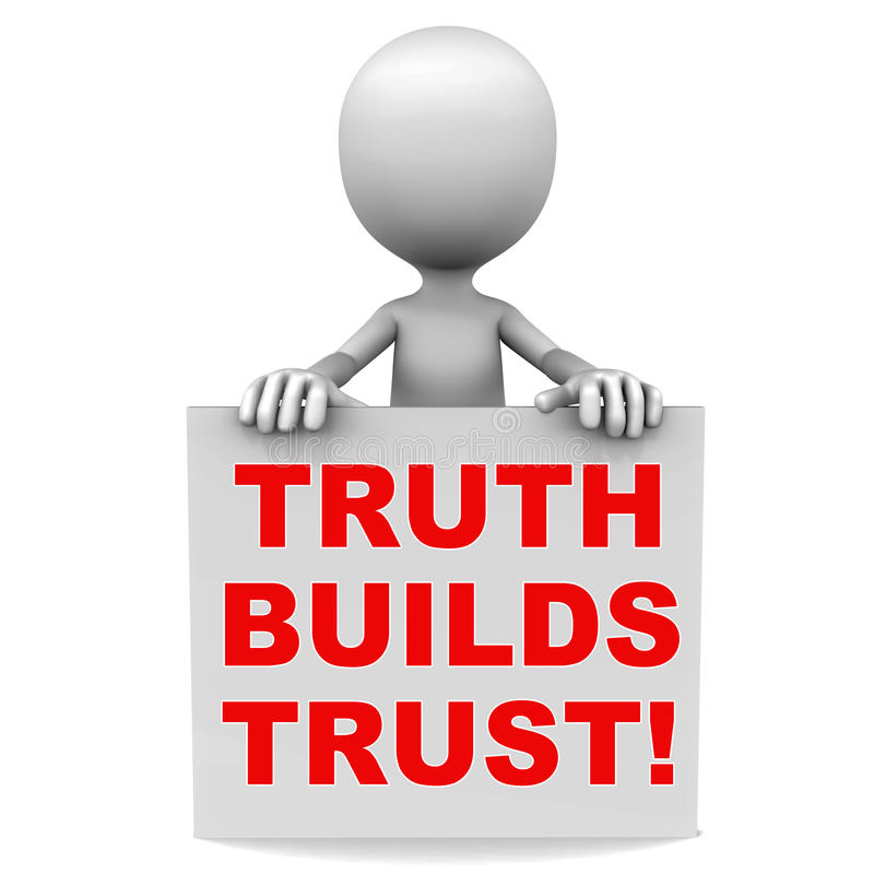 Trust concept. Trust me concept, truth builds trust, trust conceptual image vector illustration