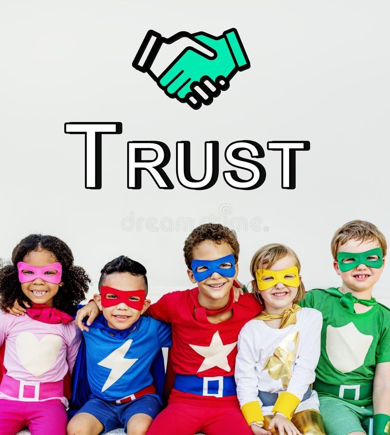 Trust Handshake Partnership Cooperation Graphic Concept. Trust Handshake Partnership Cooperation Graphic stock image
