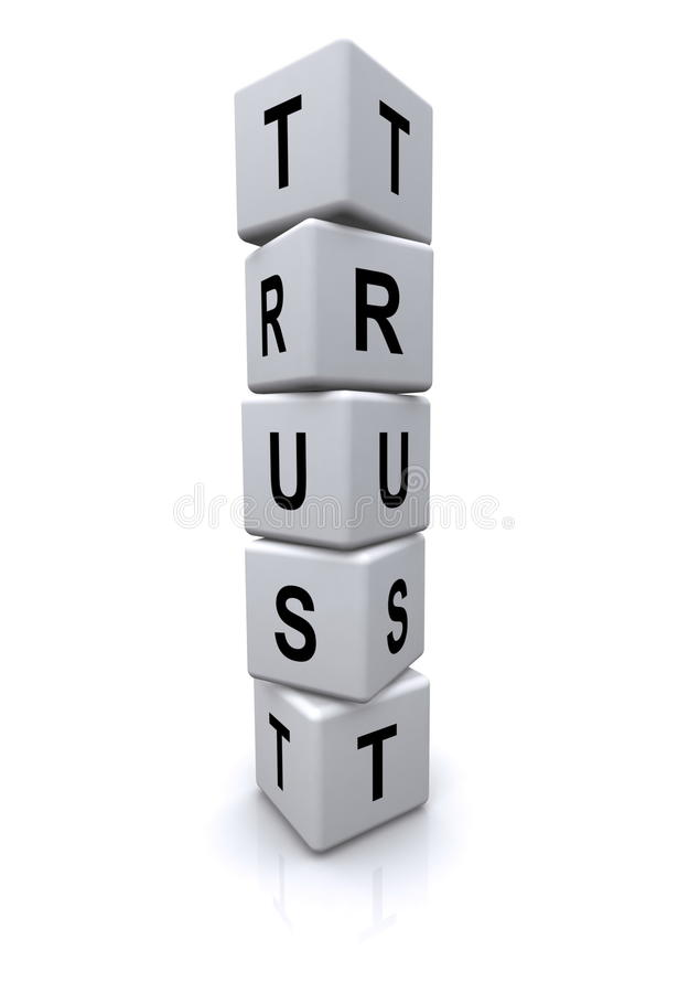 Trust Letter Cubes Royalty Free Stock Photography