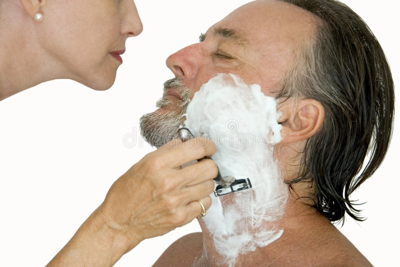 Download Trust me! stock photo. Image of shaving, casual, sensuous - 1156058