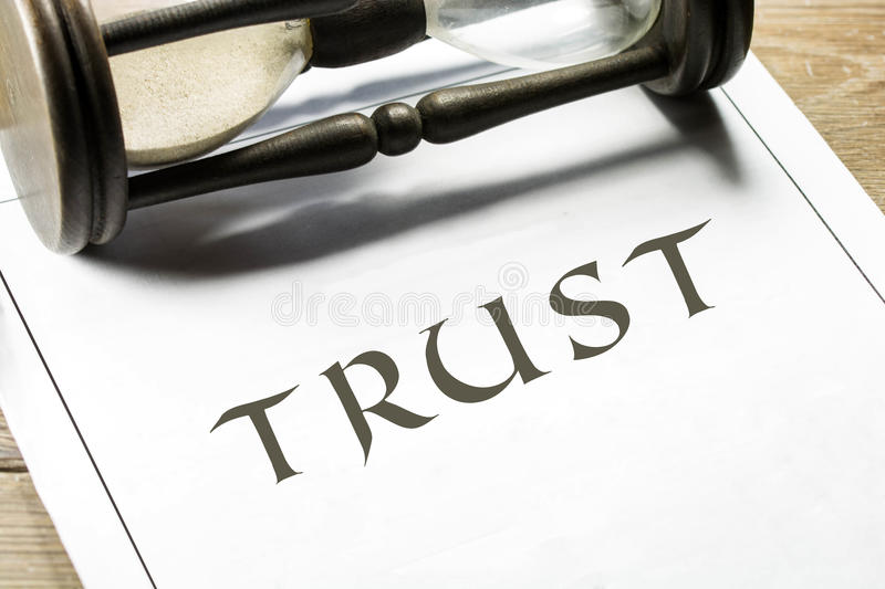 Trust in time. Concept. High resolution image stock photos