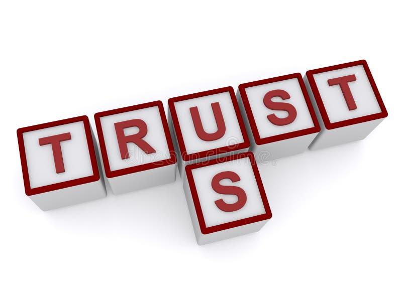 Trust us stock illustration