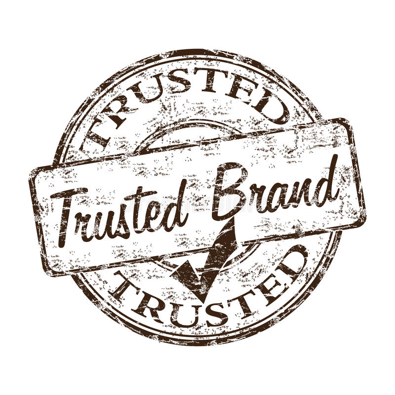 Download Trusted brand rubber stamp stock vector. Illustration of insignia - 17090511
