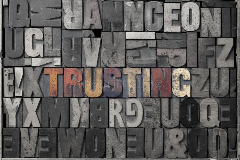 Download Trusting stock image. Image of retro, typography, abstract - 22786959
