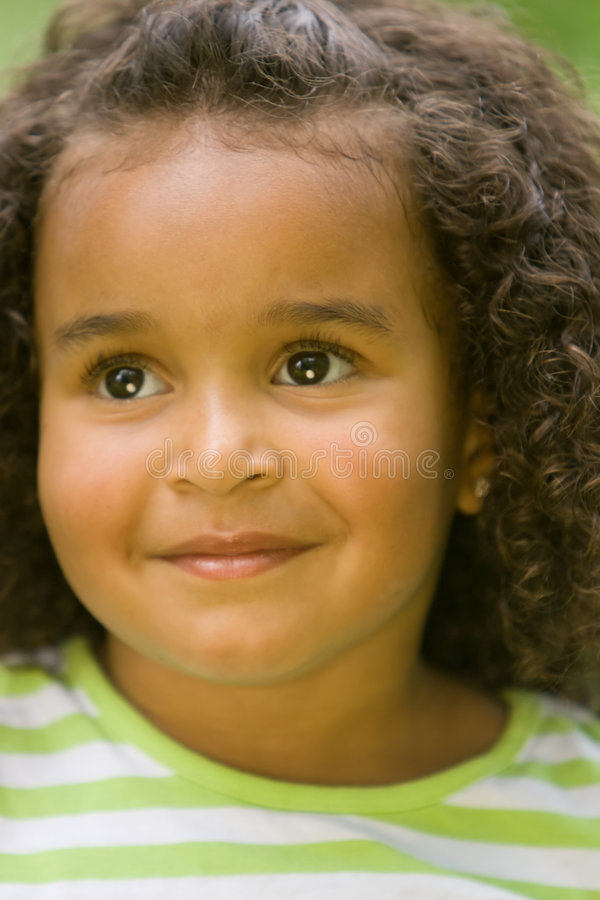 Download Trusting Eyes stock image. Image of curly, child, american - 2544639