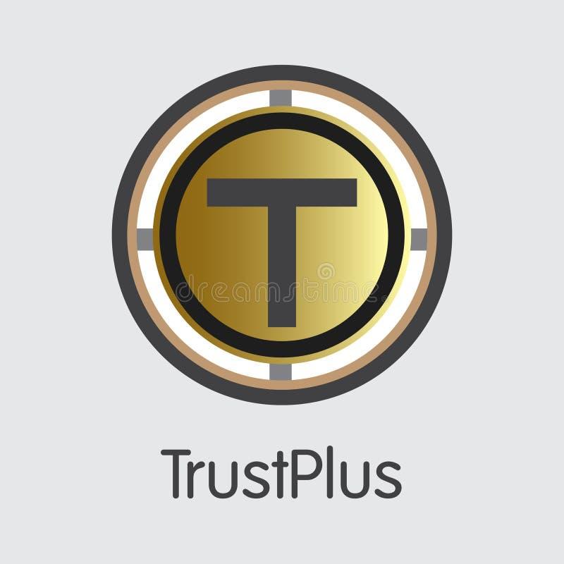 Trustplus - Cryptocurrency元素 皇族释放例证