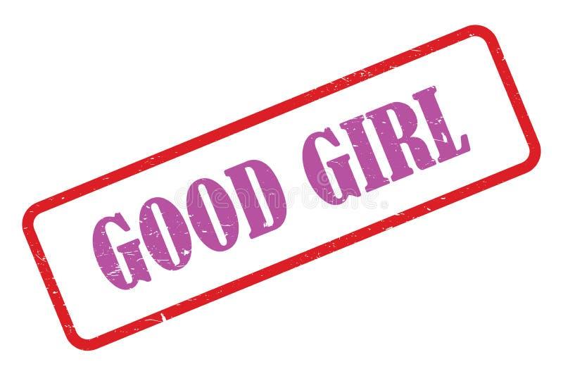 Good girl heading. Good girl stamped heading on white background royalty free illustration