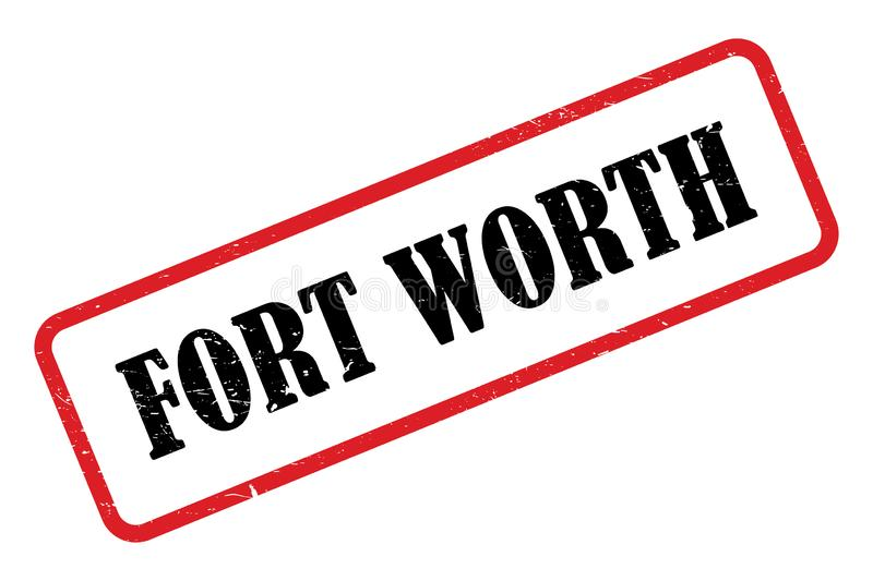 Fort worth heading. Red fort worth stamped heading on white background vector illustration