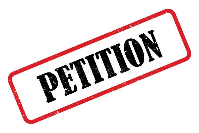 Petition heading vector illustration