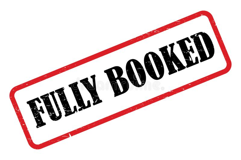 Fully booked heading. Against white background vector illustration