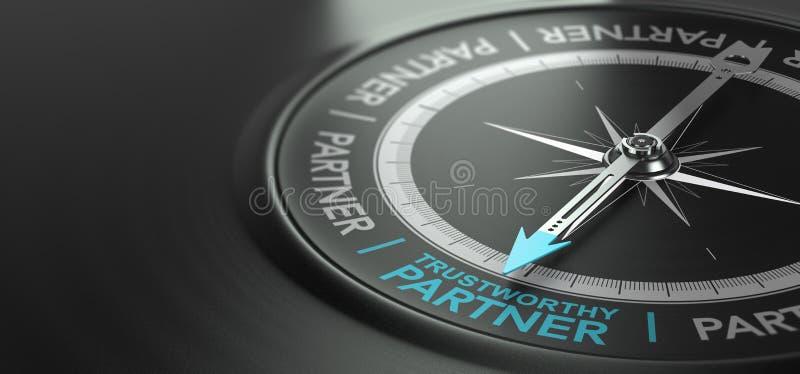 Trustworthy Partner, Strong Partnership Concept stock illustration