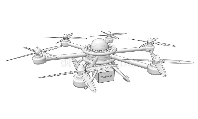Truteń dostarcza towary Wolumetryczna wektorowa ilustracja royalty ilustracja
